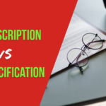 job description vs job specification