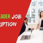 team leader job description